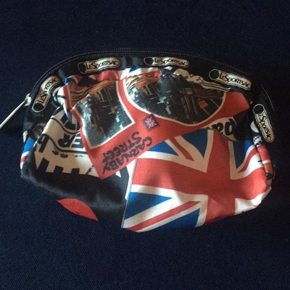 Lesportsac Handbags - LeSportSac London Print Cosmetic Bag